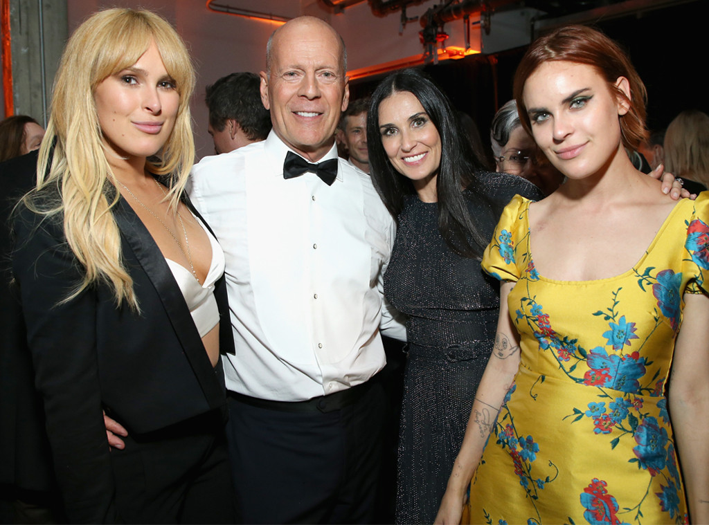 Rumer Willis, Bruce Willis, Demi Moore,Tallulah Belle Willis, Comedy Central Roast